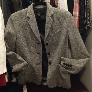 The Limited Jackets & Blazers - The Limited Grey Wool Tweed Blazer
