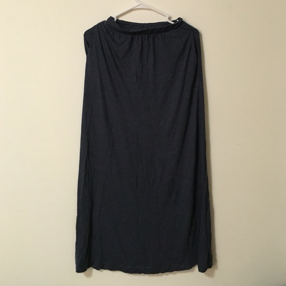 50% off H&M Dresses & Skirts - Dark grey maxi skirt from Jeannie's ...