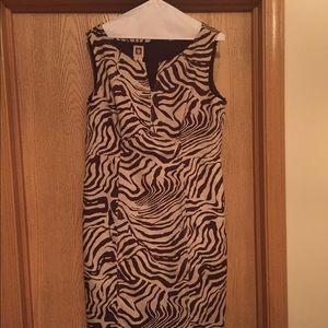 Anne Klein Dresses & Skirts - Anne Klein Animal Print Sheath Dress, Size 14