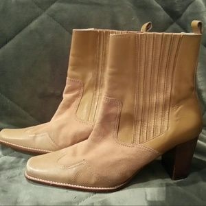 Unisa Shoes - Unisa Tan Leather & Suede Ankle Boots