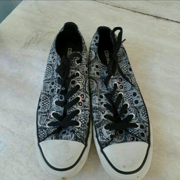 68% off Converse Shoes - Sugar skull converse from Amanda ...