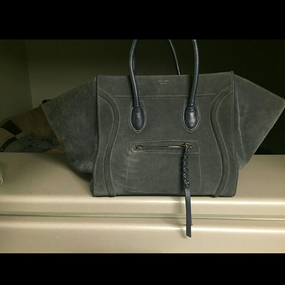84% off Celine Handbags - Celine Phantom Anthracite in midnight ...