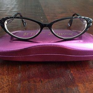 3c688d250ef Betsey Johnson Accessories - Betsey Johnson black cat eye glasses   case