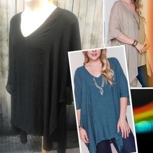 tla2 Tops - GORGEOUS V-NECK CAFTANS! 🎉NOW IN BLACK!🎉