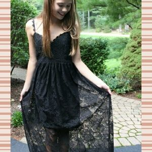 Lace Black Maxi Dress