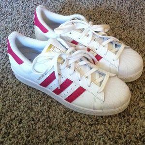Adidas Superstar White Pink