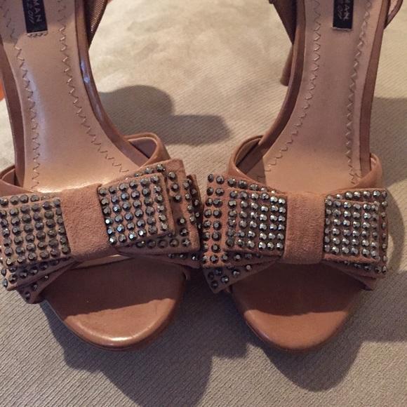 Zara Shoes - Sequin Bow Heels