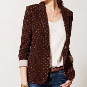 Anthropologie Cartonnier Dotside Blazer