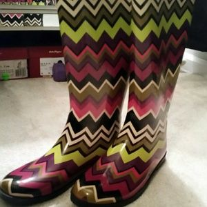 Missoni for target rain boots size 5 NWT