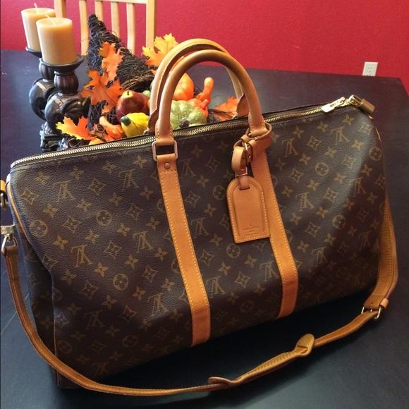 d9596ad41891 Louis Vuitton Handbags - Louis Vuitton Monogram Keepall Bandouliere 50