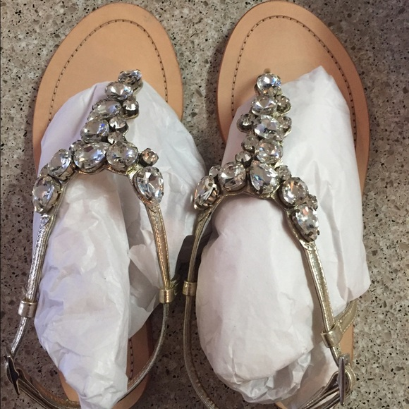 f28ee0f4aa209 Heiress Shoes - Leather sandal with decorative crystals from BHLDN