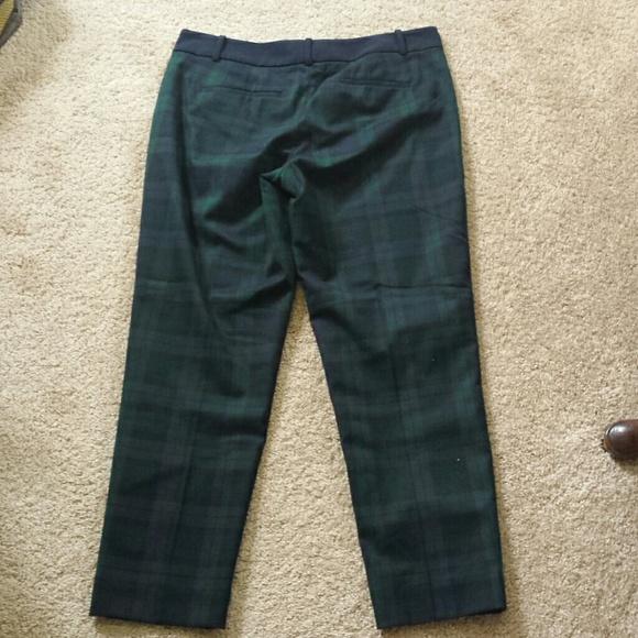 LOFT Pants - Plaid ankle pant