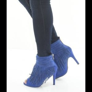 Cape Robbin Shoes - Cape Robbin Cindy-Sy Wrapped-Ankle Fringe Booties