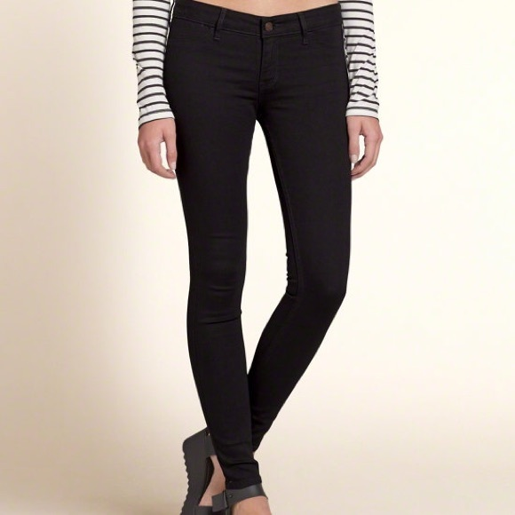 Hollister navy jeggings