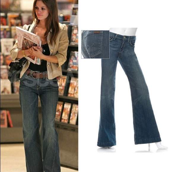 87% off 7 for all Mankind Denim - 7 For All Mankind Ginger Low ...