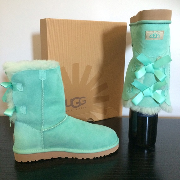 8db629c4470 Lim Edition 🎀UGG Tiffany blue Bailey bow boots NWT