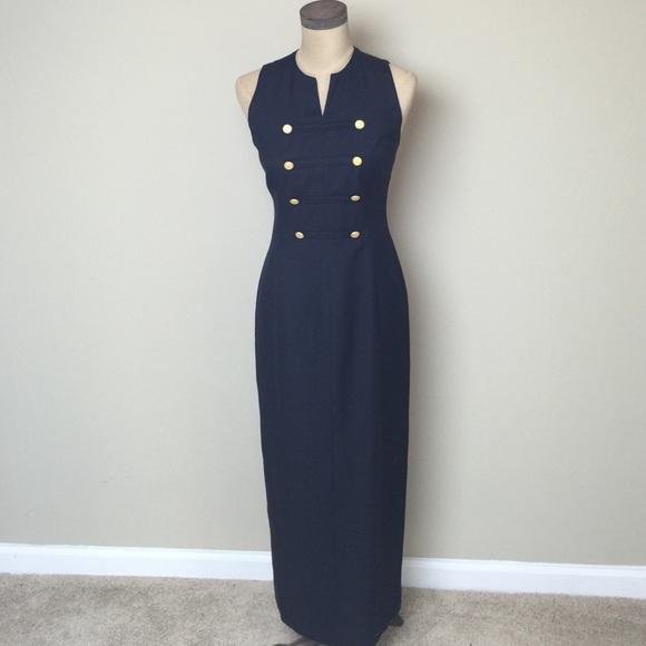 Evan Picone Dresses Gorgeous Classic Navy Nautical Inspired Maxi
