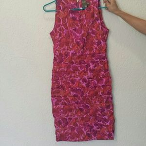 Dresses & Skirts - Beautiful pink printed tiered dress