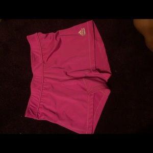 Pink Adidas Techfit Climalite Athletic Shorts