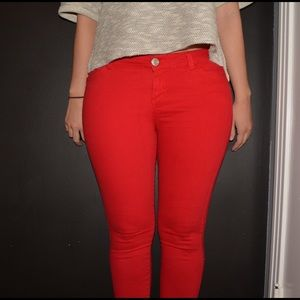 Red Super Skinny Jeans - Xtellar Jeans
