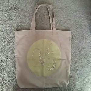VICTORIA'S SECRET Light Tan & Green Tote