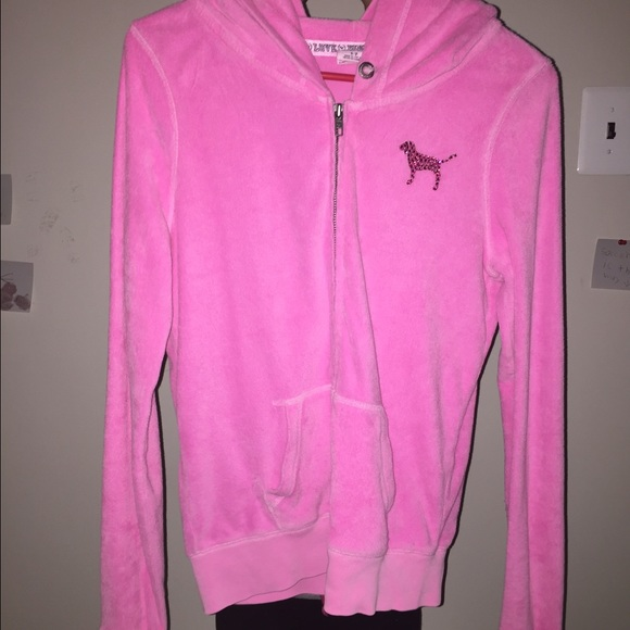58% off Victoria's Secret Tops - Pink vs fuzzy zip up from ...