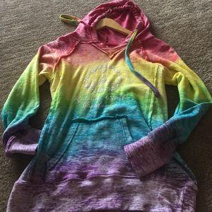 Sweaters - Rainbow color California hoodie
