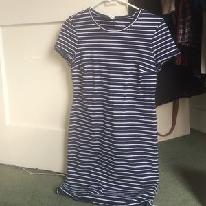 Striped bodycon dress with short sleeves