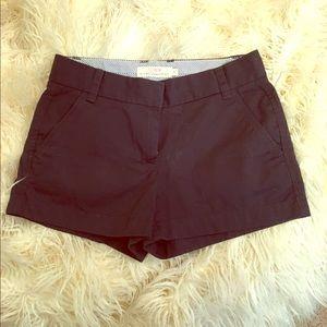 JCREW classic navy chino shorts