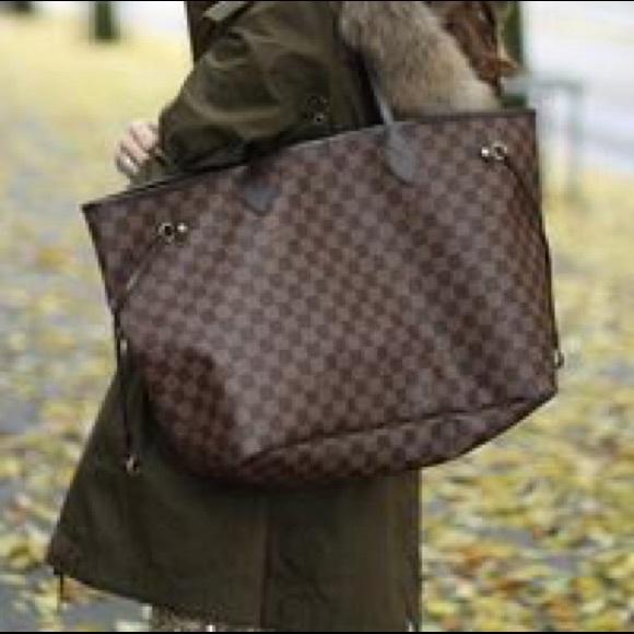 0af592f96949 Louis Vuitton Handbags - Louis Vuitton Neverfull GM Damier Ebene