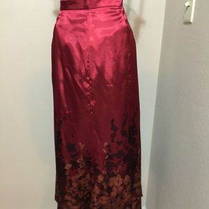 NEW fall leaves deep red-rust color A line skirt