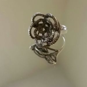 Flowered Marcasite Ring