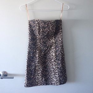 Cheetah print Cache mini dress