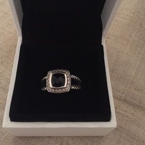 David yurman black onyx ring with diamonds