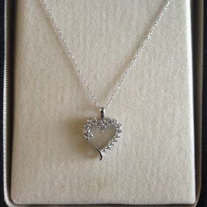Zales Jewelry - Silver heart necklace