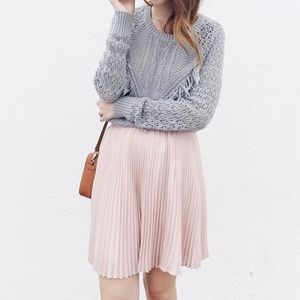 JustFab Dresses & Skirts - Pink Pastel Chiffon Pleated Skirt