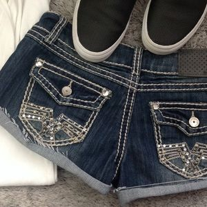 Almost Famous embellished shorts