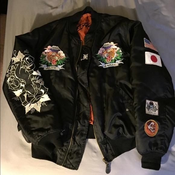 Ed Hardy - RARE Ed hardy bomber/flight jacket 100% authentic from ...
