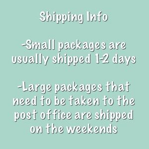 Tops - Shipping info