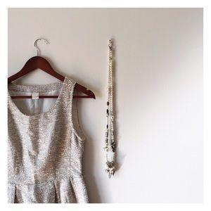 Tweed cut out dress