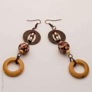 OOAK Handmade Desert Storm bead Earrings