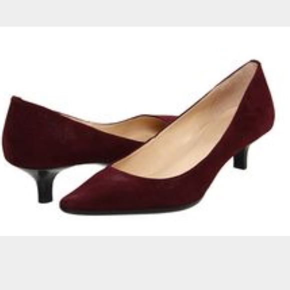 81% off Calvin Klein Shoes - Calvin Klein Burgundy Suede Kitten ...