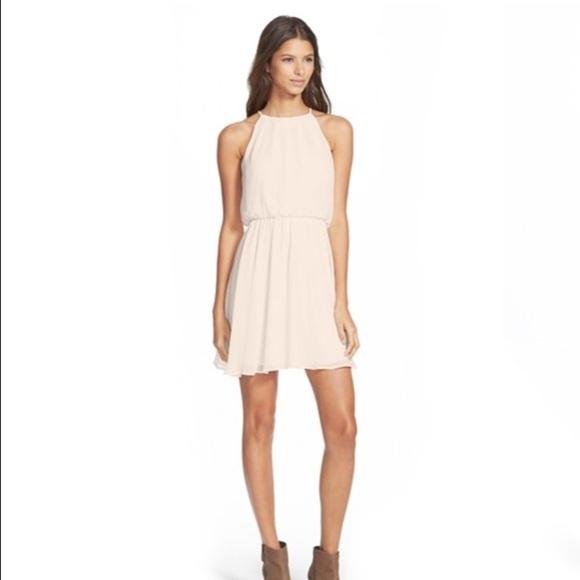 5e2fa5e767822 Lush Dresses | Blouson Chiffon Skater Dress | Poshmark