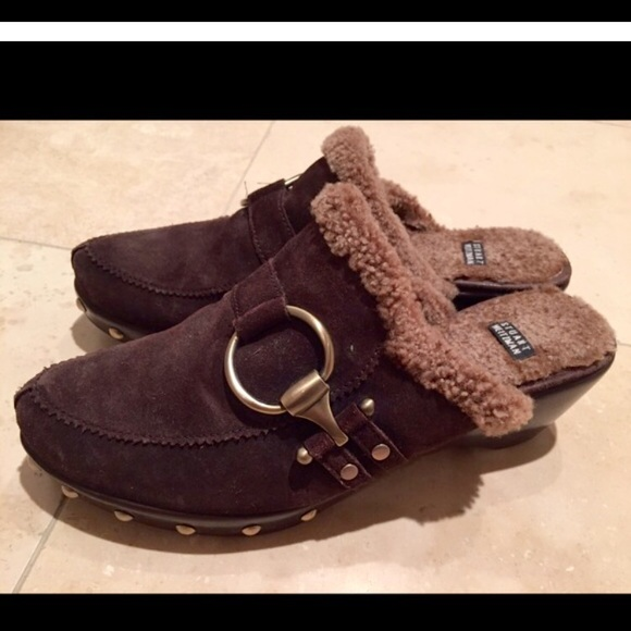 extremely for sale Stuart Weitzman Suede Studded Clogs cheap reliable limited edition online for cheap online sale best store to get 0W5FXA