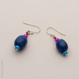 OOAK Handmade Princess Blue bead Earrings