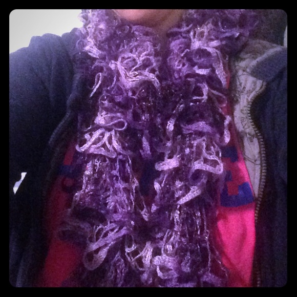 knitted purple movement scarf os from caitlin 5