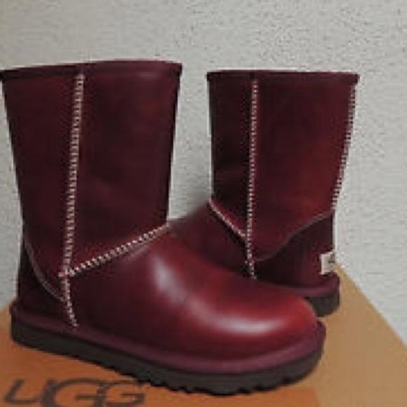 ugg shoes brand new oxblood boots no box poshmark rh poshmark com