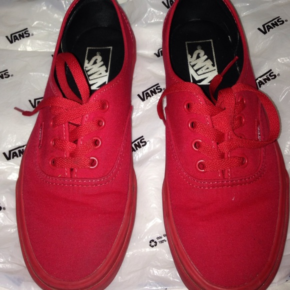 vans off the wall red shoes