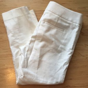 LOFT Pants - Marissa cropped White trousers