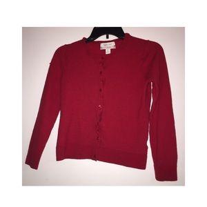 SUPER CUTE red wool cardigan!
